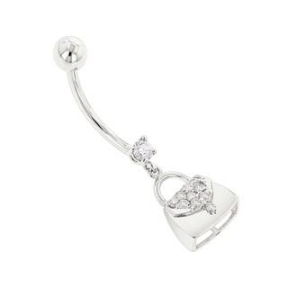 Luxurman Body Jewelry 14k Gold 0.29 Ct Diamond H, SI Purse Belly Button Ring