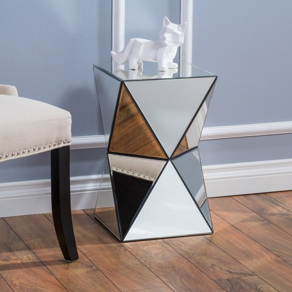 Fairfax Mirrored End Table by Christopher Knight Home