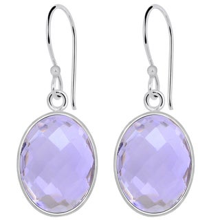 orchid jewelry Sterling Silver 15.90ct Genuine Amethyst Gemstone Earrings