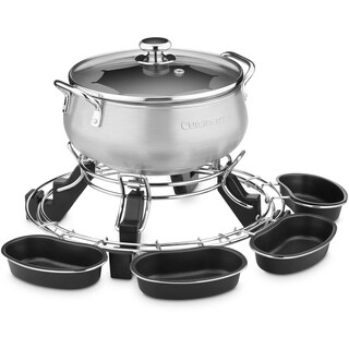 Cuisinart Lazy Susan Electric Fondue (Refurbished), Brushed Stainless