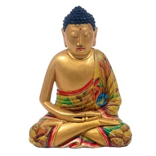 Crocodile Wood 'Buddha in Meditation' Statuette (Indonesia)