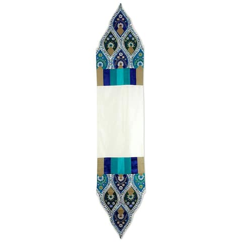 Handmade Applique 'Indian Palace' Table Runner (India)