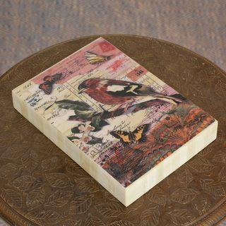 Handmade Wood Bone 'Nostalgia' Decorative Box (India)