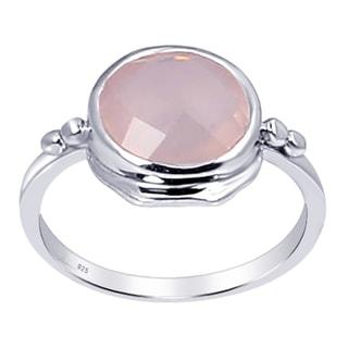 Orchid Jewelry 925 Silver 3 1/2 TGW Rose Quartz Ring