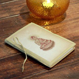 Handmade Paper 'Poetic Buddha' Journal (India)