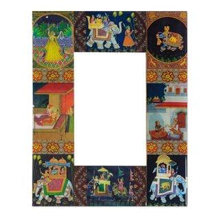 Handmade Decoupage 'Mughal Hunting Expedition' Photo Frame (India)