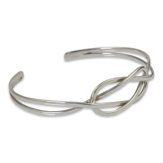 Handcrafted Sterling Silver 'Lover's Knot' Bracelet (Thailand)