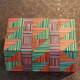 Handcrafted Indian Elm Wood 'Jaipuri Puzzle' Box (India)