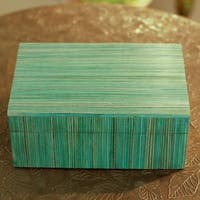 Handmade Indian Elm Wood 'Fresh Delhi' Box (India)