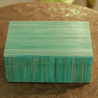 Handmade Indian Elm Wood 'Fresh Delhi' Box (India)