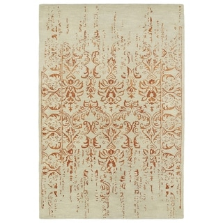 "Hand-Tufted Wool & Viscose Anastasia Vanishing Paprika Rug (5' x 7'9"")"