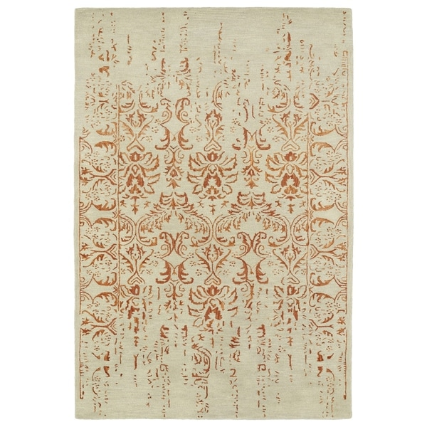"Hand-Tufted Wool & Viscose Anastasia Vanishing Paprika Rug (3'6"" x 5'6"")"