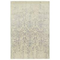 "Hand-Tufted Wool & Viscose Anastasia Vanishing Grey Rug (5' x 7'9"")"