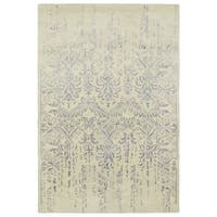 Hand-Tufted Wool & Viscose Anastasia Vanishing Grey Rug - 8' x 11'