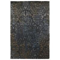 Hand-Tufted Wool & Viscose Anastasia Charcoal Damask Rug - 8' x 11'