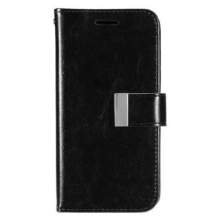Insten Black Leather Case Cover with Wallet Flap Pouch/ Photo Display For Samsung Galaxy S7 Edge