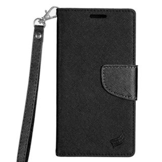 Insten Black Leather Case Cover Lanyard with Stand/ Wallet Flap Pouch/ Photo Display For Samsung Galaxy S7 Edge