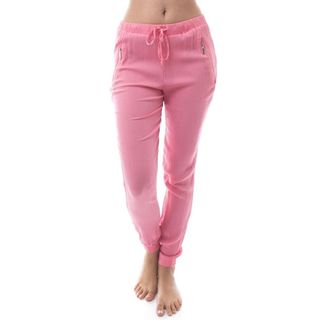 Soho Women Crepe Pull-On Jogger Pants with Side Zipper Exterior Pockets