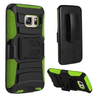 Insten Hard PC/ Silicone Dual Layer Hybrid Case Cover with Holster For Samsung Galaxy S7 Edge