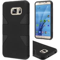Insten Dynamic Hard Silicone/ PC Dual Layer Hybrid Rubberized Matte Case Cover For Samsung Galaxy S7
