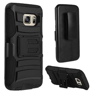 Insten Hard PC/ Silicone Dual Layer Hybrid Case Cover with Holster For Samsung Galaxy S7
