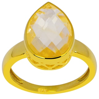 Orchid Jewelry 18k Yellow Gold Over Silver 4 1/2ct. Citrine Birthstone Ring