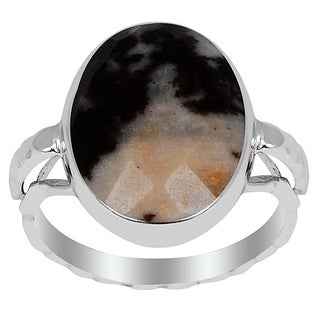 Orchid Jewelry 8.00 Carat Outback Jasper Sterling Silver Ring