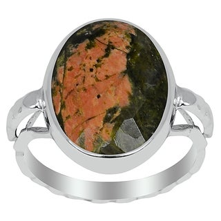 Orchid Jewelry 8.50ct Unakite Sterling Silver Ring