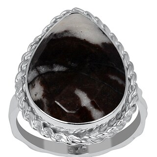 Orchid Jewelry Sterling Silver 8 3/5ct. Outback Jasper Ring