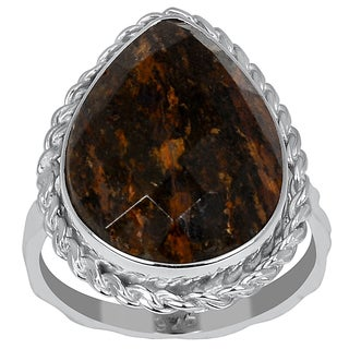 Orchid Jewelry 8.75ct Bronzite Sterling Silver Ring