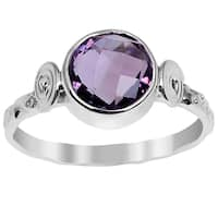 Orchid Jewelry 1.80ct Amethyst Sterling Silver Ring