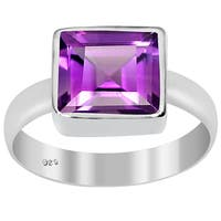Orchid Jewelry 1.60ct Amethyst Sterling Silver Ring