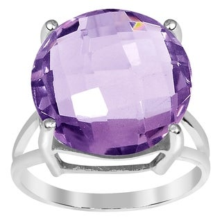 Orchid Jewelry 11.20ct Pink Amethyst Sterling Silver Ring