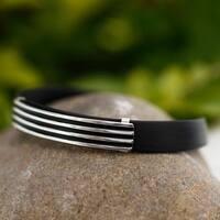 Handmade Men's Sterling Silver 'Journey to Taxco' Bracelet (Mexico)