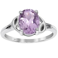 Orchid Jewelry 1.70ct Pink Amethyst Sterling Silver Ring
