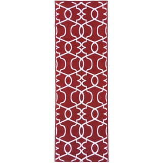 "Berrnour Home Rose Collection Moroccan Trellis Design Runner Rug With Non-Skid (Non-Slip) Rubber Backing (20"" X 59"")"