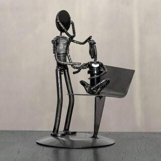Handmade Auto Part 'Pediatrician's Appointment' Sculpture (Mexico)