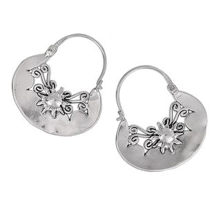 Handcrafted Sterling Silver 'Sun Renaissance' Earrings (Mexico)