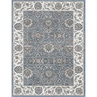 eCarpetGallery Paradise Collection Blue/Beige Polypropylene/Viscose Rug (4'1 x 5'7)