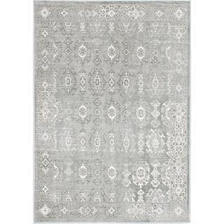 eCarpetGallery Eden Gray/Ivory Viscose Rug (3'11 x 5'3)