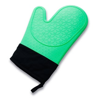 Zodaca Mint Green Heat Resistant Silicone Gloves Kitchen Oven Mitt