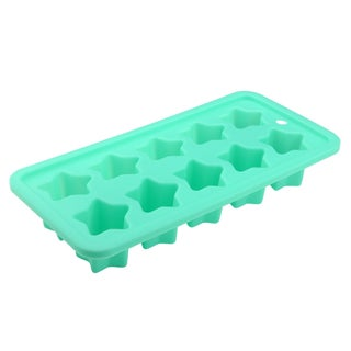 Zodaca Mint Green Food-grade Silicone Rubber 10 Star Shape Ice Tray Mold Maker