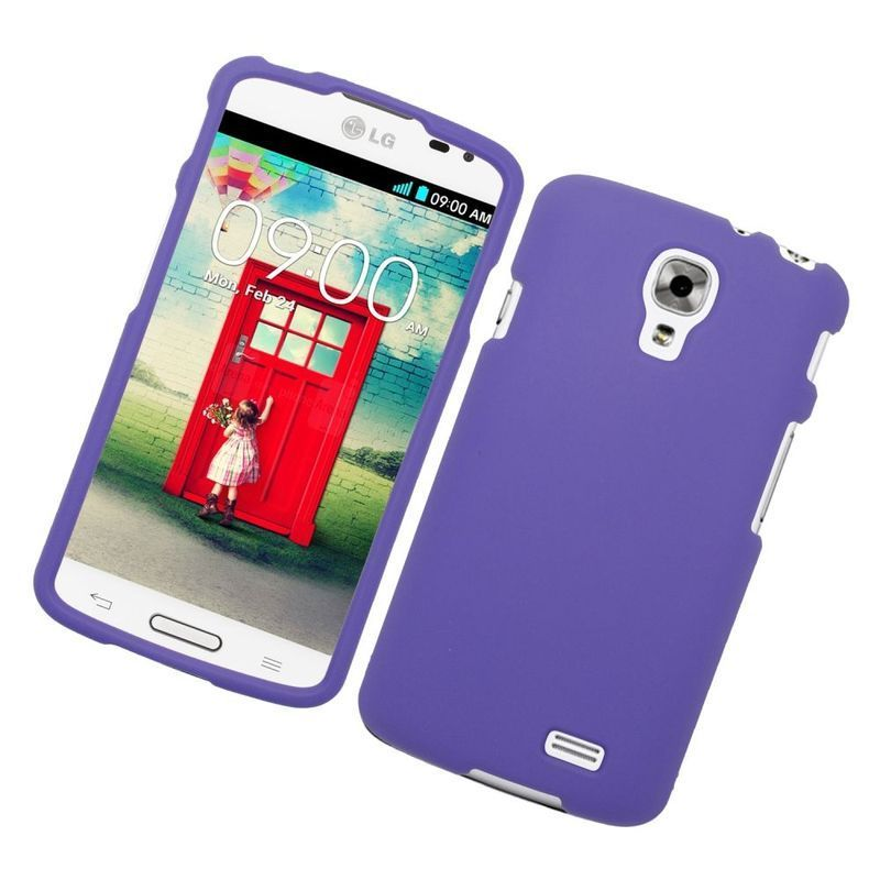 Insten Rubberized Hard Snap-in Case for LG F70 D315 (Purp...