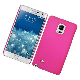 Insten Hot Pink Hard Snap-on Rubberized Matte Case Cover For Samsung Galaxy Note Edge