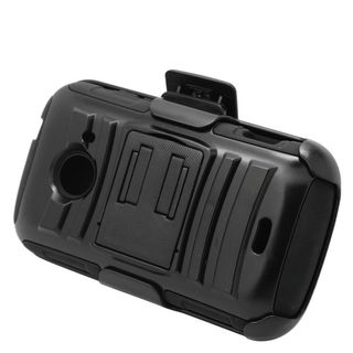 Insten Hard PC/ Silicone Dual Layer Hybrid Case Cover with Stand/ Holster For ZTE Prelude 2/ Whirl 2/ Zinger