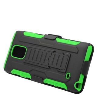 Insten Car Armor Hard PC/ Silicone Dual Layer Hybrid Case Cover with Stand/ Holster For Samsung Galaxy Note 4 (4 options available)