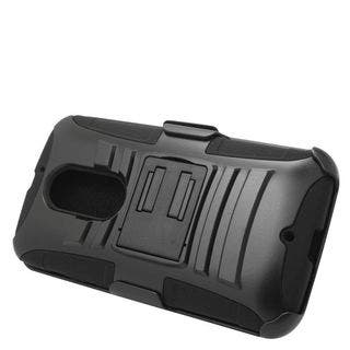 Insten Hard PC/ Silicone Dual Layer Hybrid Case Cover with Stand/ Holster For Motorola Moto X (2nd Gen)|https://ak1.ostkcdn.com/images/products/11974102/P18856819.jpg?impolicy=medium