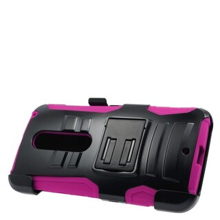 Insten Hard PC/ Silicone Dual Layer Hybrid Case Cover with Stand/ Holster For Motorola Moto X Style (5 options available)