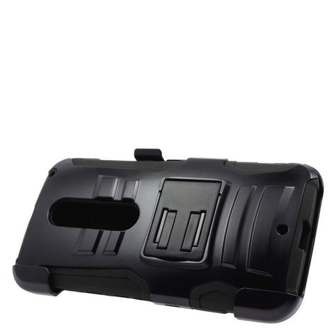Insten Hard PC/ Silicone Dual Layer Hybrid Case Cover with Stand/ Holster For Motorola Moto X Style