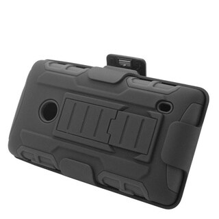 Insten Car Armor Hard PC/ Silicone Dual Layer Hybrid Case Cover with Stand/ Holster For Nokia Lumia 520